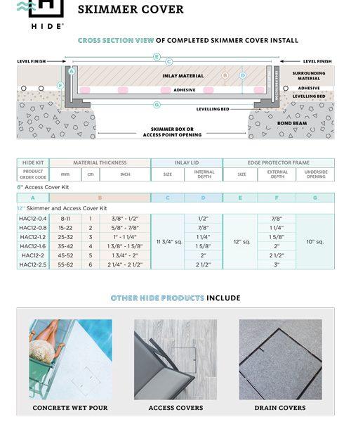 HIDE Skimmer Cover Technical Brochure